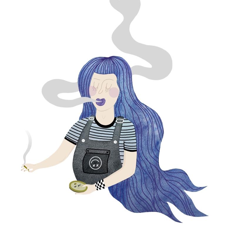 smoking girl final