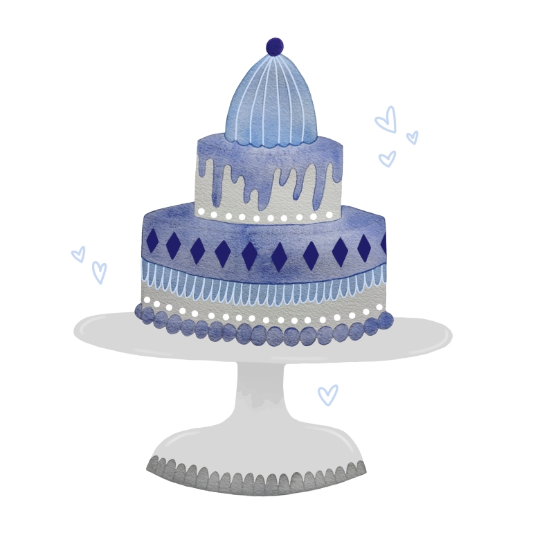 A Cake for Two illustration by Carolyn Whittico