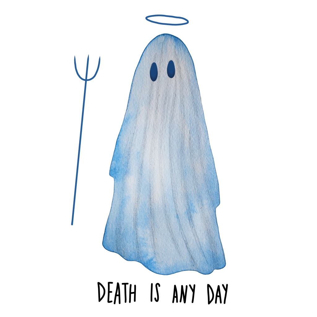 Death is Any Day ghost illustration by Carolyn Whittico