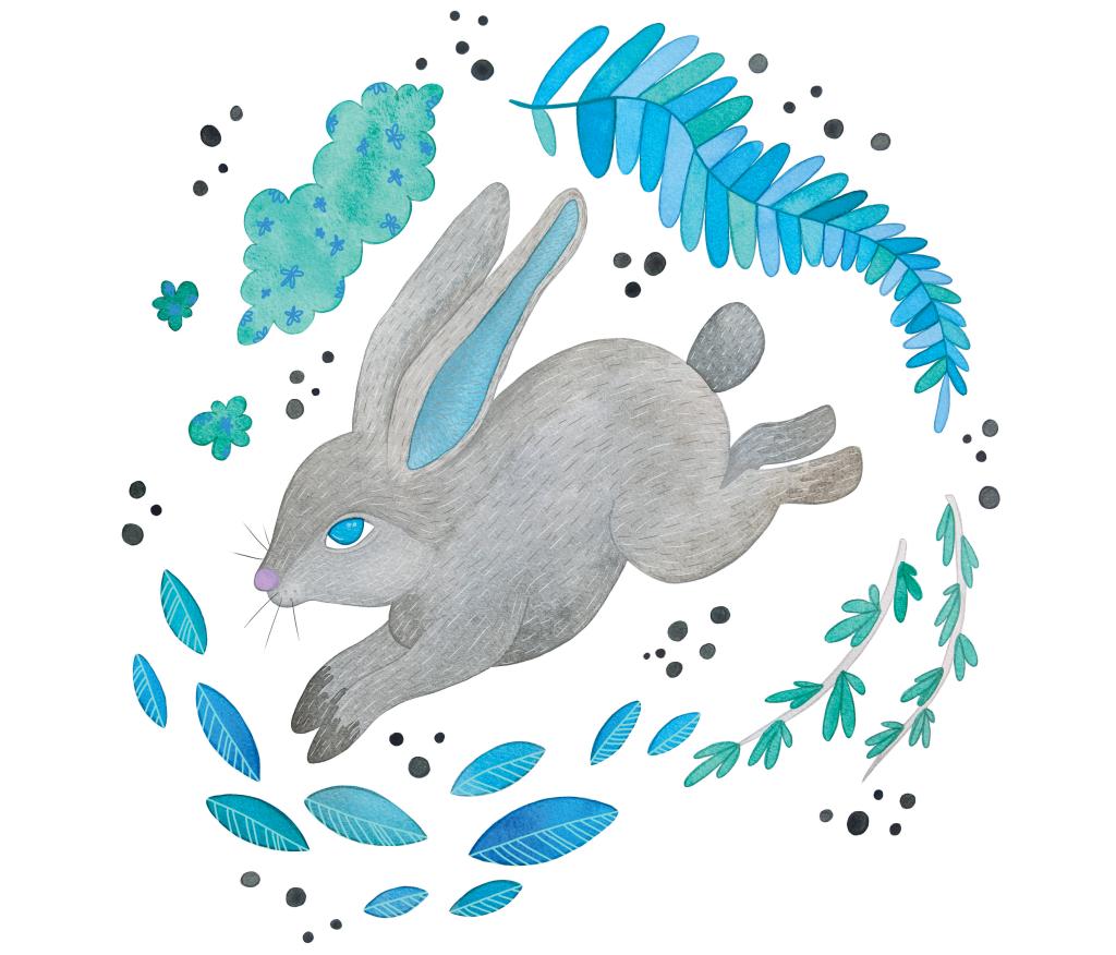 Hare illustration by Carolyn Whittico