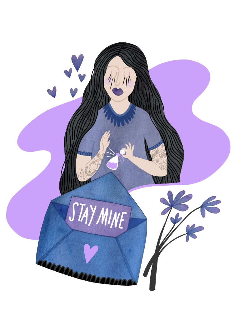 Stay Mine illustration by Carolyn Whittico at A Cup of Cloudy
